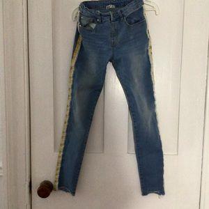 Side Stripe Girls Jeans - Dex